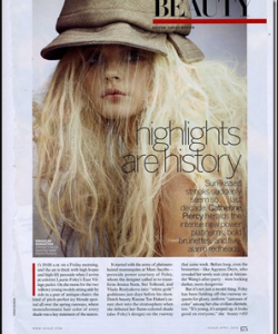 """Highligts are History"" Article from Vogue April 2010"