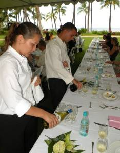Wine Service Between Each Course