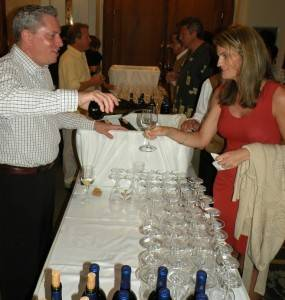 Suzie Reynolds of Reynolds Winery Tasting a Jarvis Wine