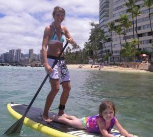 Mother & Daughter Enjoying SUP