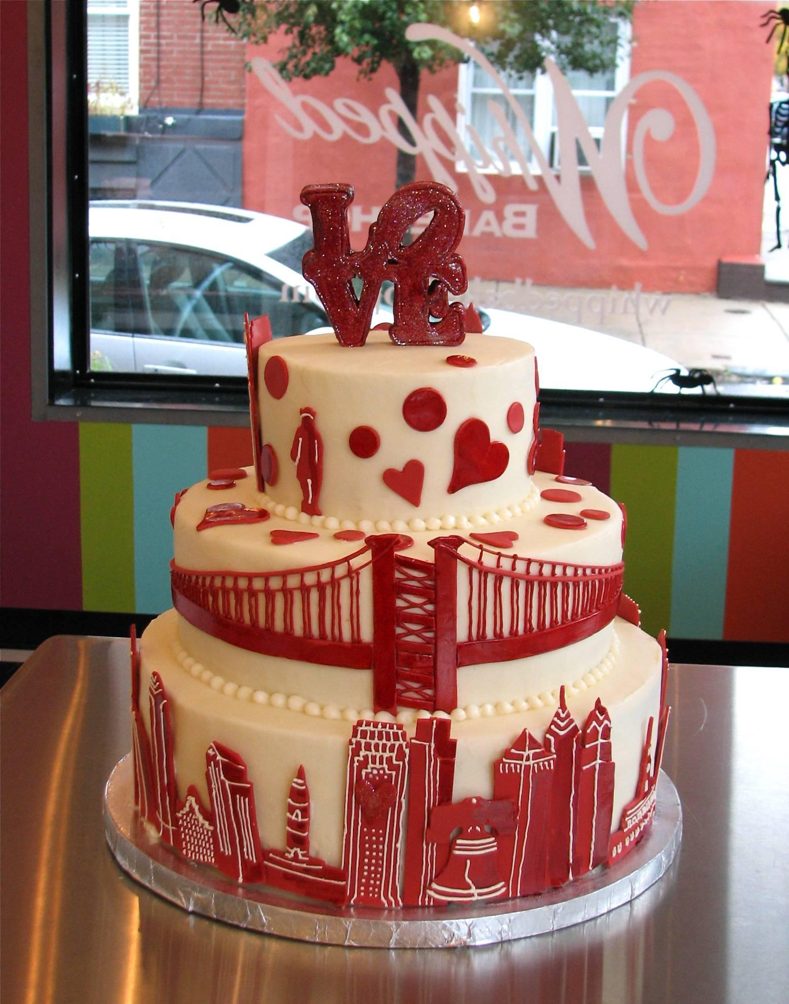 Philly Skyline Birthday Cake