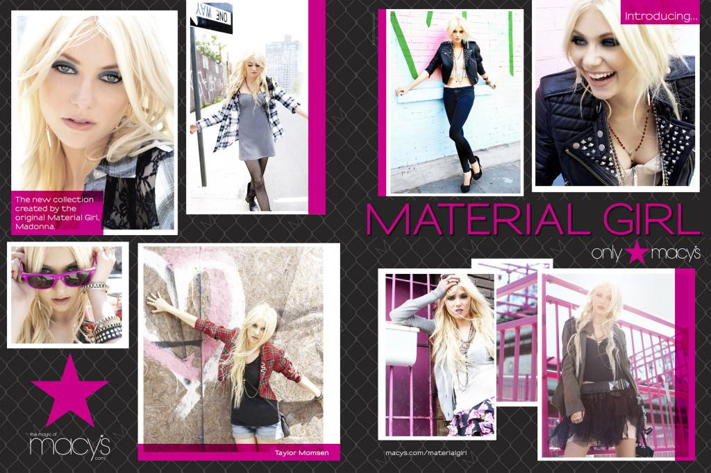 a034b6f2a954 August 3, 2010 marks the release of the Material Girl clothing line. The  collection, which features apparel, footwear, handbags and jewelry, is  targeting ...