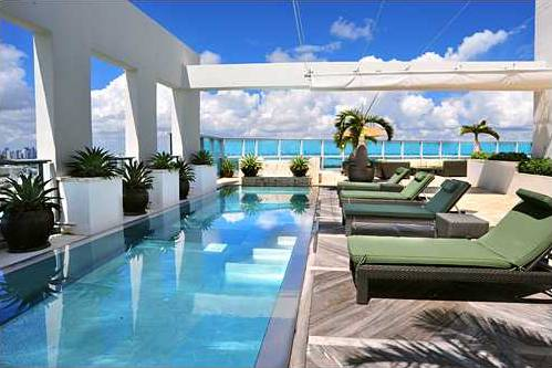 15 million penthouse purchase indicates upturn for miami for Pool design miami