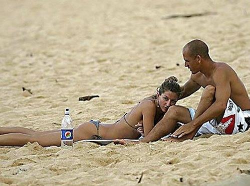 Pro Surfer Kelly Slater & Gisele Bundchen