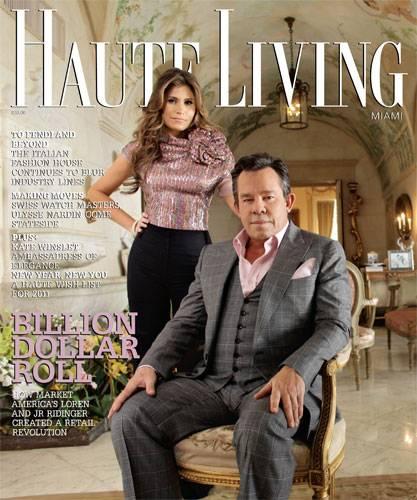 Loren And Jr Ridinger Grace The Cover Of Haute Living