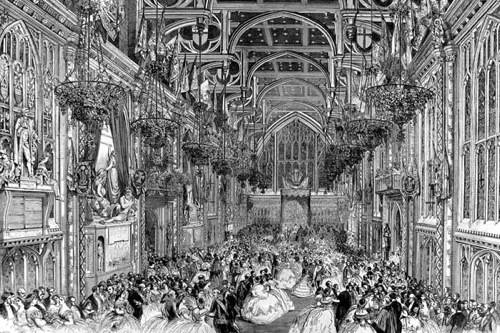 An event held at the Guildham in 1863