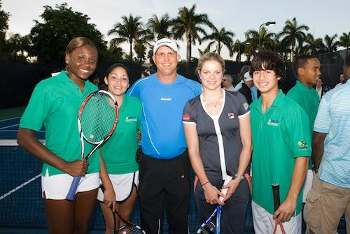 Kim Clijsters with Tennis Foundation