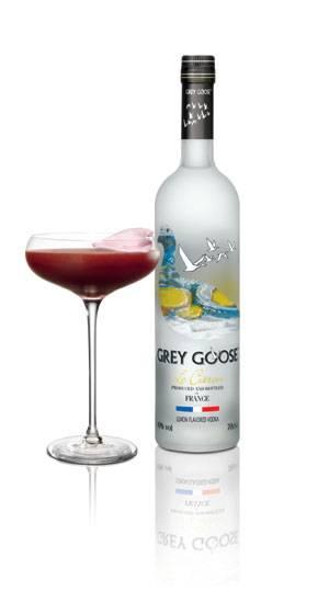 Oscar themed cocktail Pas de Deux made with Grey Goose