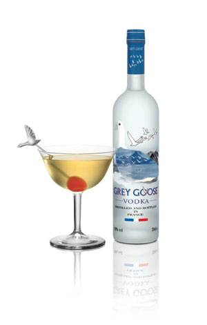 Oscar themed cocktail SPEECHLESS made with Grey Goose