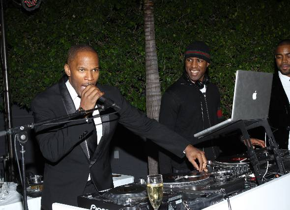 Jamie Foxx at Pre-grammy party