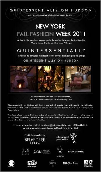 QUINTESSENTIALLY, New York Fashion Week, Fashion Lounge