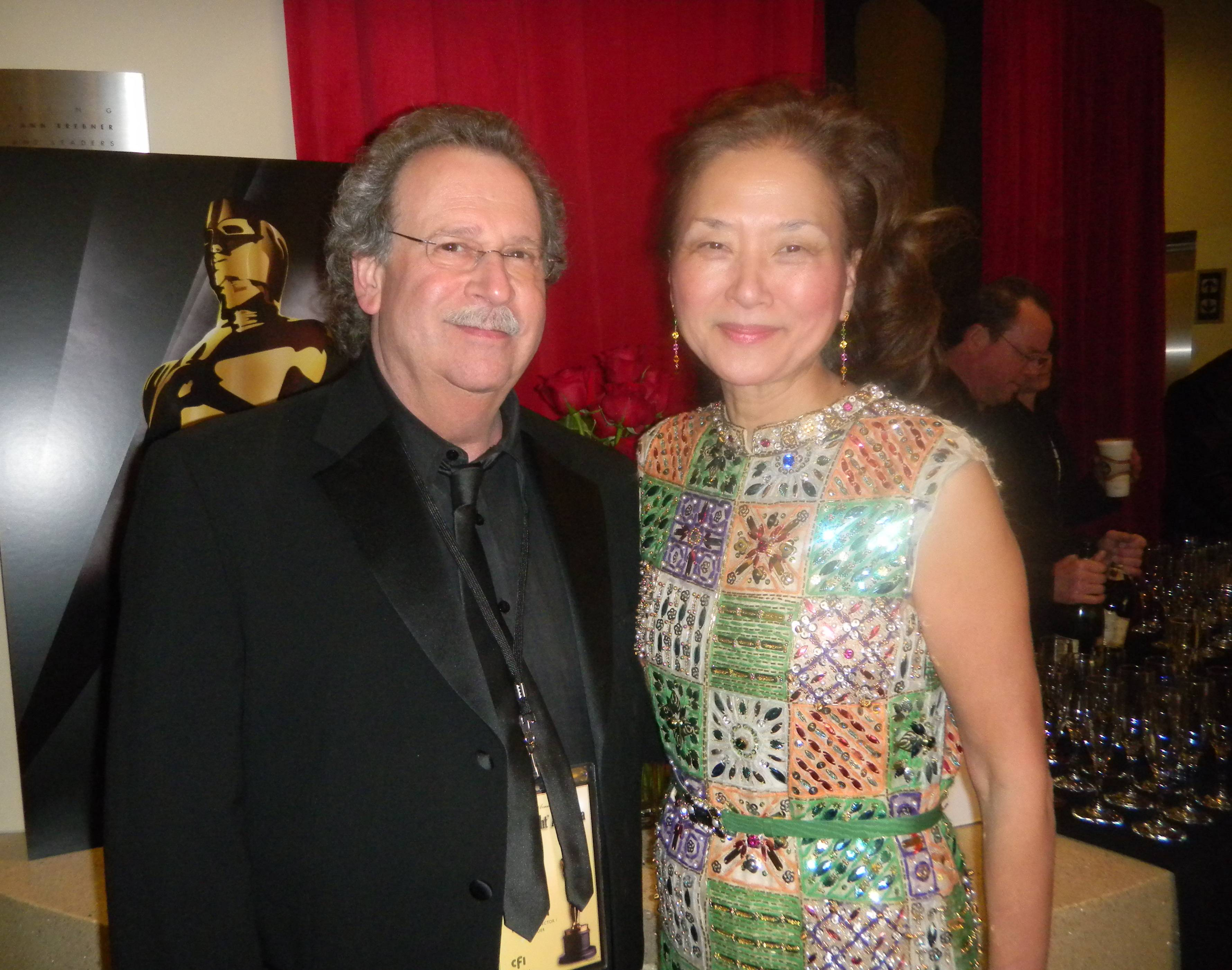 Olivia with Mark Fishkin, founder of CFI and Mill Valley Film Festival