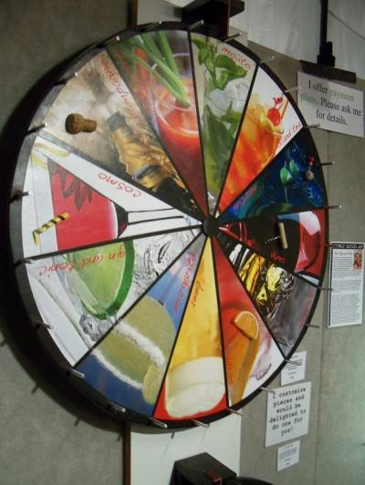 Spin this wheel by Beverly Hayden to choose a drink