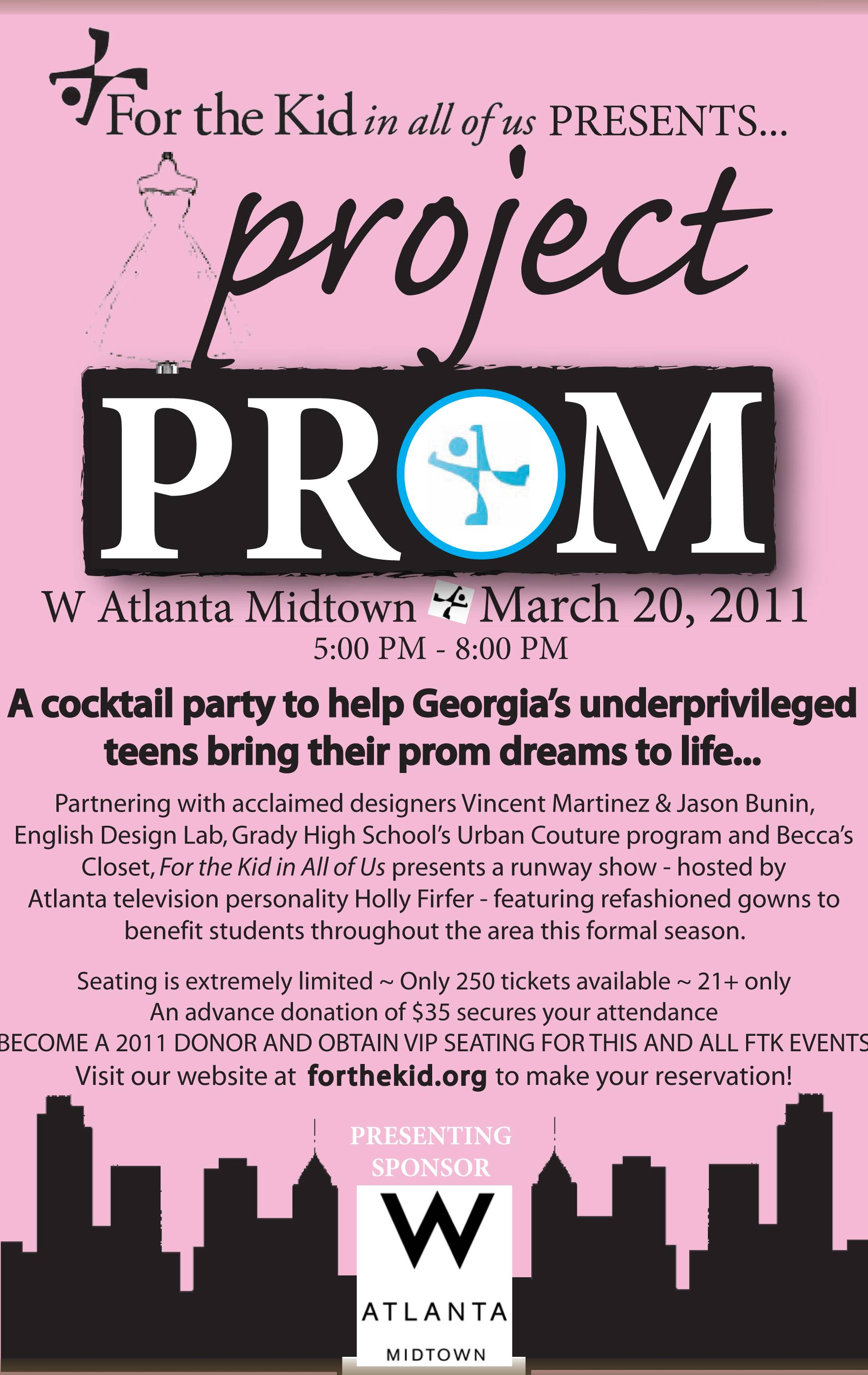 save the date for the kid in all of us presents project prom