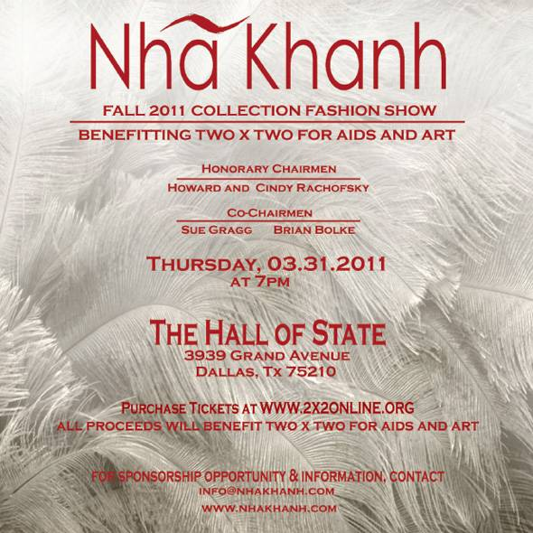 Nhã Khanh Fall 2011 Fashion Show at the Hall of State