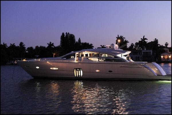 Pershing Yachts has debuted their new pearl white Pershing 80', noted as one ...