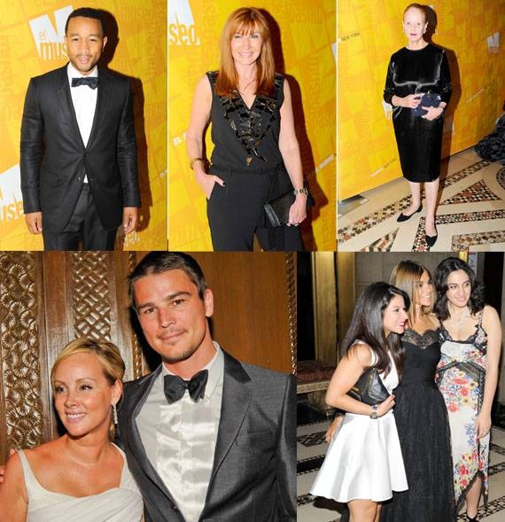 Clockwise from top left: John Legend, a Givenchy-clad Nicole Miller, Vogue's Grace Coddington, Carine Roiteld with fans, and the handsome Josh Hartnett with Yaz Hernandez.