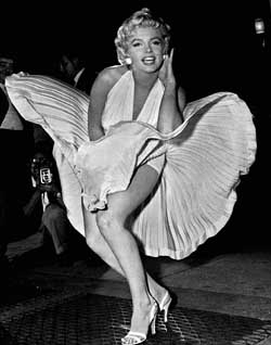 "Marylin Monroe in ""The Seven Year Itch"""