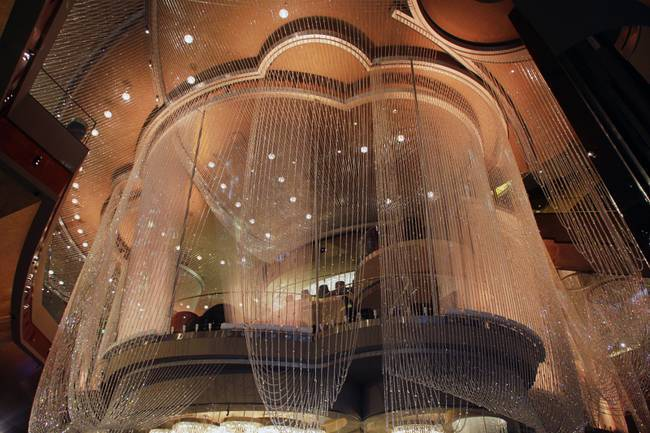 The Cosmopolitan Hotel 39 S Chandelier Bar In Las Vegas Haute Living