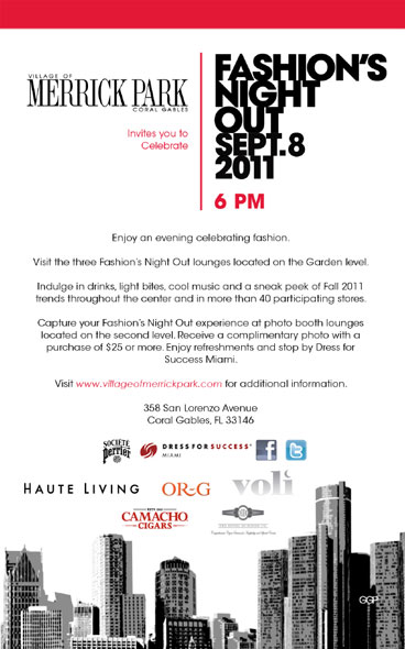 Tonight Celebrate Fashion S Night Out With Haute Living At Merrick Park Haute Living