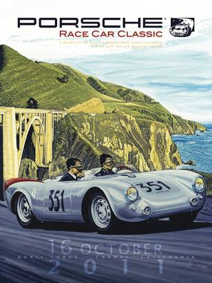 Jerry seinfeld named grand marshal for monterey porsche event porsche race car classic 2011 poster sciox Images