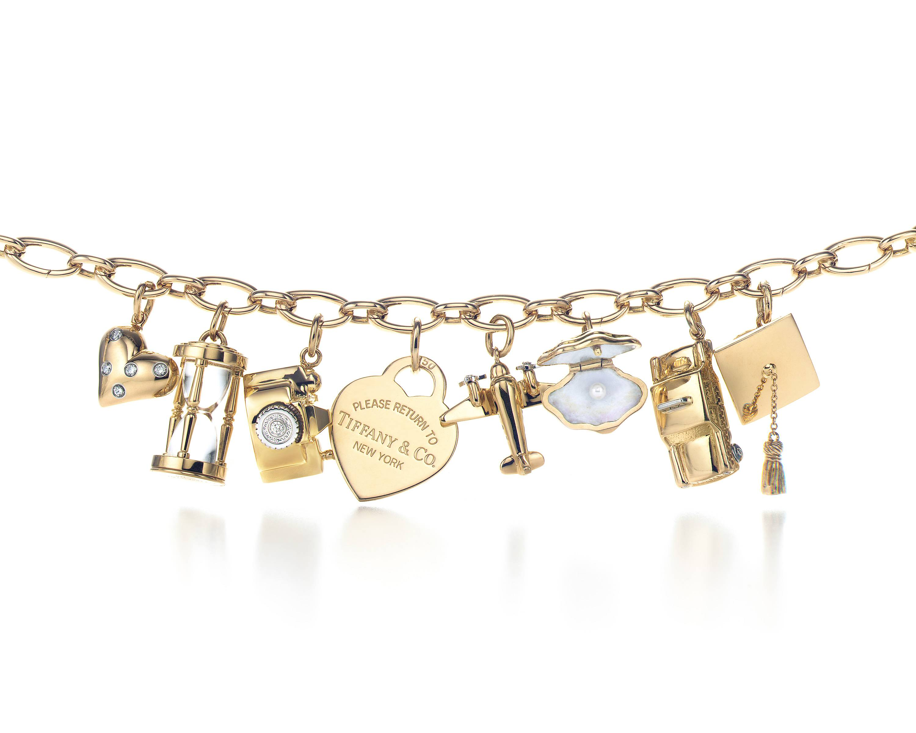 tiffany co charm bracelet in gold more fun jewelry