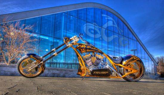 Donald Trump Receives Custom Gold Motorcycle Haute Living