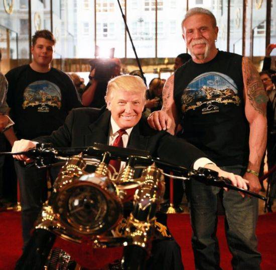 Donald Trump Receives Custom Gold Motorcycle Haute Living