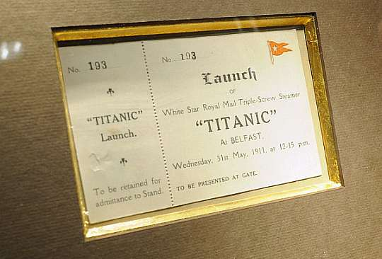 original titanic launch ticket could sell for up to
