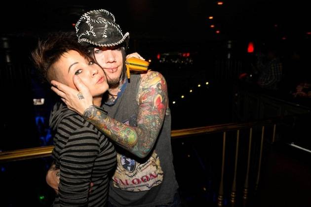 DJ Ashba of Guns N' Roses and his sister Kari Kaisner at Body English. Photo: Carlos Larios