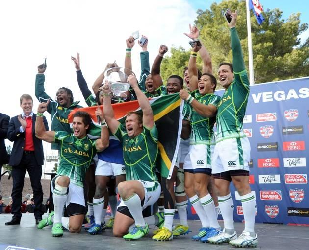 Team South Africa wins the USA Sevens Rugby Tournament. Photos: Las Vegas News Bureau
