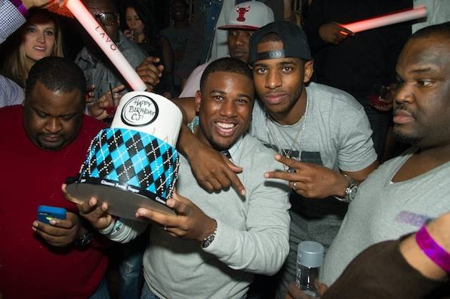 Chris Paul and his brother CJ at Lavo. Photos: Al Powers/Powers Imagery