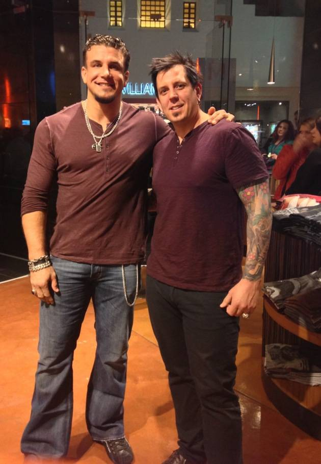 Frank Mir and Sean Dowdell at Club Tattoo's Linkin Park signing.
