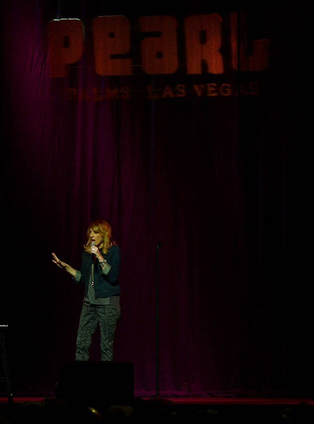 Lisa Lampanelli performs at the Pearl at the Palms. Photos: Denise Truscello
