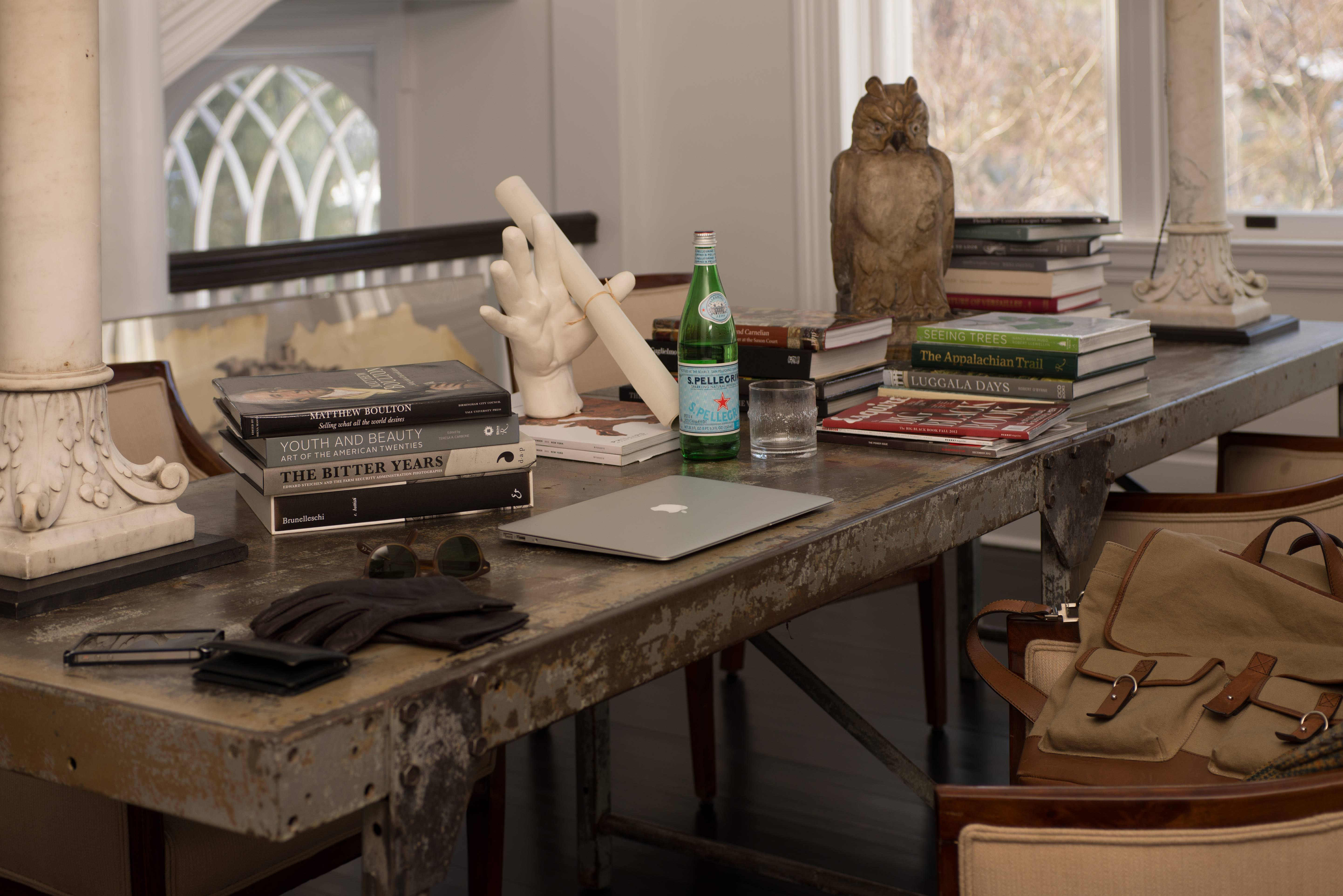 Photograph of Michael Bruno's Desk at His Home Office