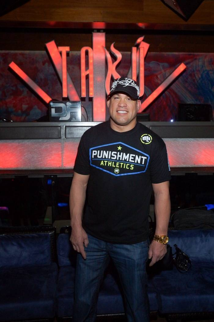Tito Ortiz inside Tabu. Photos: Cashman Photos