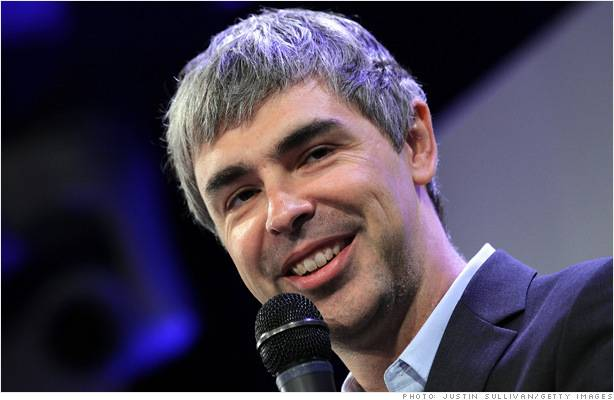 Larry Page. Photo Credit: buzz.money.cnn.com