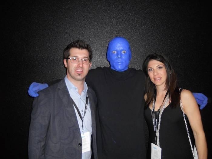 3.15.13 Hypnotist Marc Savard Attends Blue Man Group at Monte Carlo Resort and Casino