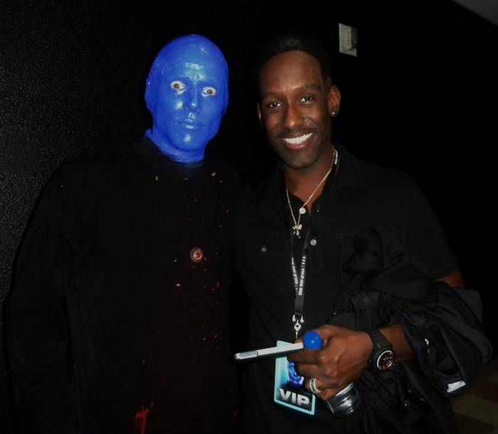 Shawn Stockman of Boyz II Men at Blue Man Group.