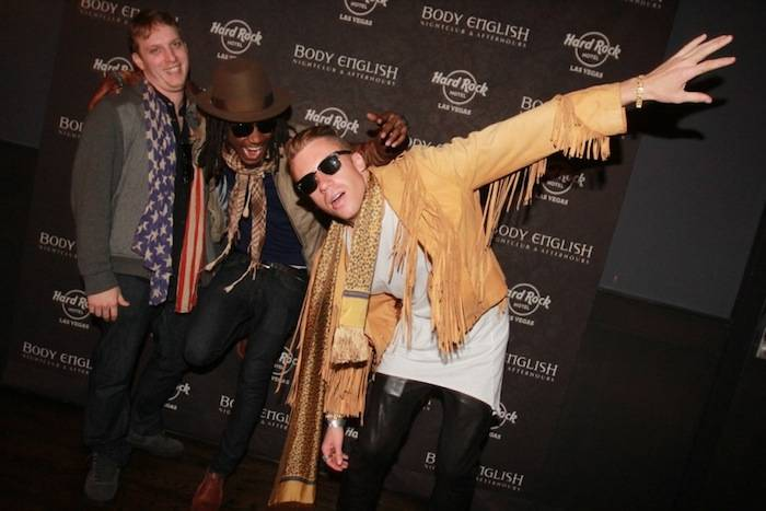 Macklemore poses with friends at Body English. Photos: Hew Burney