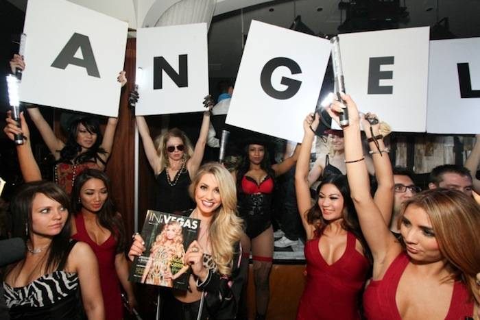 Angel Porrino help In Vegas Magazine launch its spring issue at Hyde. Photos: Hyde Bellagio