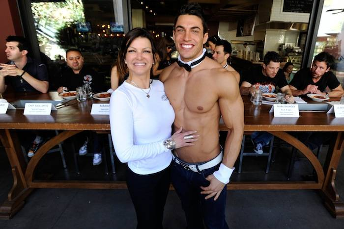 Carla Pellegrino with winner Jon Howes. Photos: David Becker/WireImage