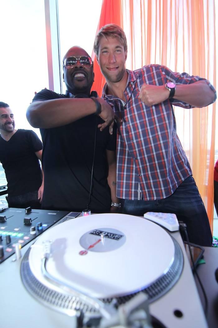 DJ Jazzy Jeff and Matt Grevers. Photos: Joe Fury