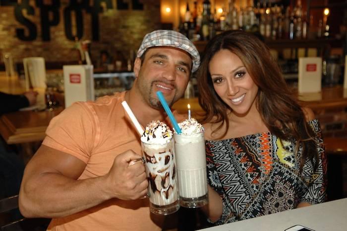 Joe and Melissa Gorga share milkshakes. Photos: Bryan Steffy/WireImage