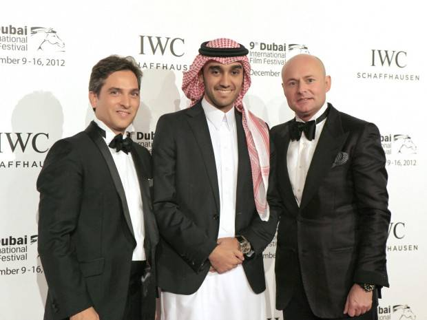 Maxime-Ferte-IWC-Middle-East-Regional-Director-IWC-Saudi-Ambassador-His-Royal-Highness-Prince-Abdulaziz-bin-Turki-AlFaisal-AlSaud-and-Georges-Kern-CEO-IWC.-620x465