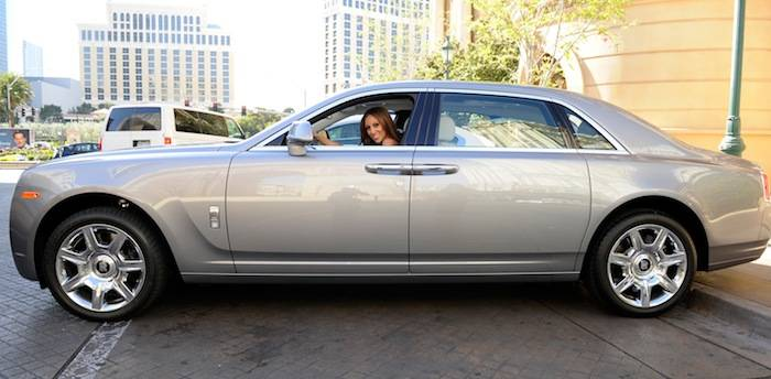 Melissa Gorga drives a Rolls-Royce Ghost from Towbin Motorcars. Photot: David Becker/WireImage