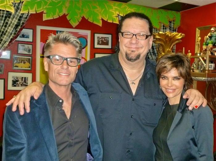 Harry Hamlin, Penn Jillette and Lisa Rinna. Photo: Caesars Entertainment