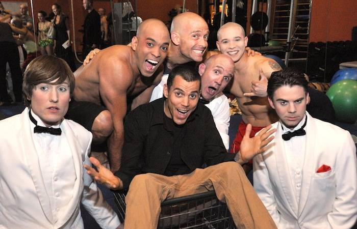 Steve-O with clown performers from Le Reve - The Dream. Photos: Wynn Las Vegas