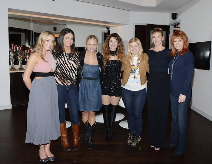 "Country music stars backstage at ""Shania: Still The One"" show. Photos: Denise Truscello/WireImage"