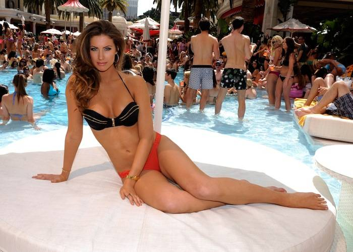 Katherine Webb at Encore Beach Club. Photos: David Becker/WireImage